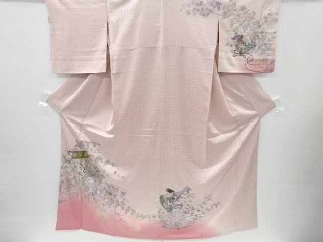 【IDnet】 蘇州刺繍几帳に花模様訪問着【リサイクル】【中古】【着】