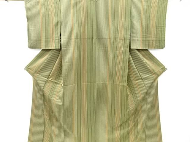 【IDnet】 縞に紗綾型模様小紋着物【リサイクル】【中古】【着】