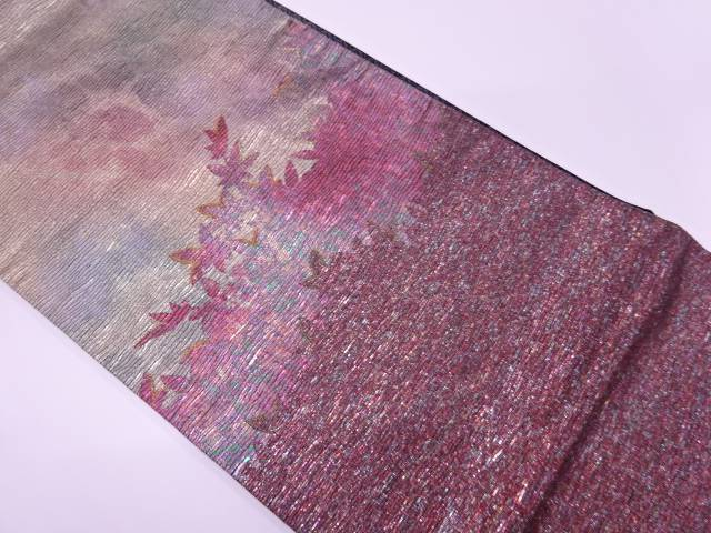 【IDnet】 紅葉模様織出し暈し袋帯【リサイクル】【中古】【着】