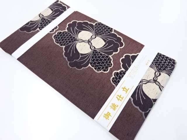【IDnet】 未使用品 作家物 手織り節紬型染抽象花模様名古屋帯【リサイクル】【着】