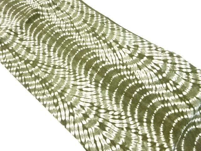 【IDnet】 草木染本絞り手織り節紬名古屋帯【リサイクル】【中古】【着】