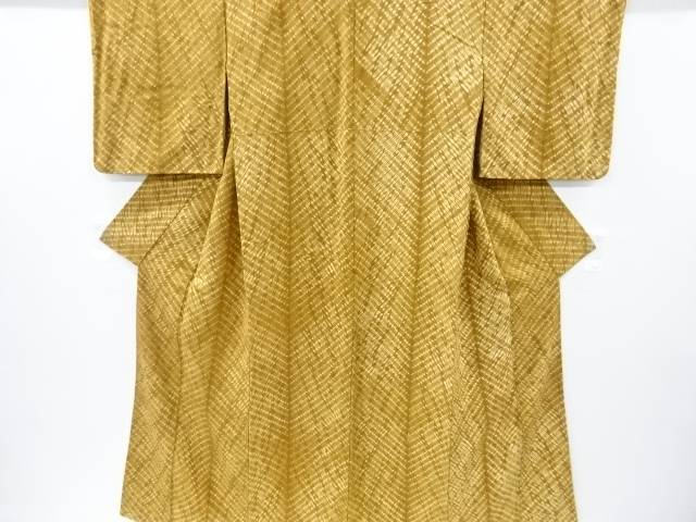 【IDnet】 絞り抽象模様手織り真綿紬着物【リサイクル】【中古】【着】