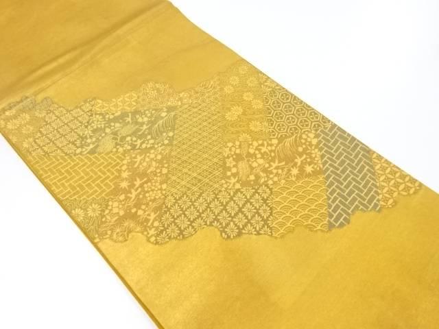 【IDnet】 道長取りに花鳥・古典柄織り出し袋帯【リサイクル】【中古】【着】