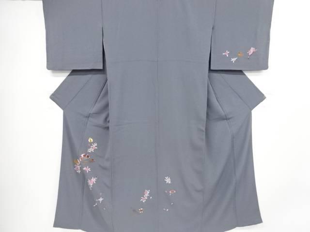 【IDnet】 桜に毬・簪・鳥模様刺繍訪問着【リサイクル】【中古】【着】