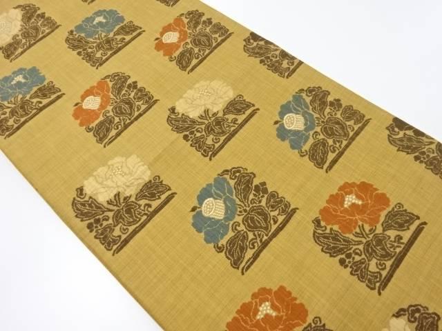 【IDnet】 椿模様織り出し袋帯【リサイクル】【中古】【着】