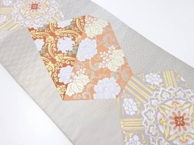 【IDnet】 切りばめ風華紋更紗模様織り出し袋帯【リサイクル】【中古】【着】