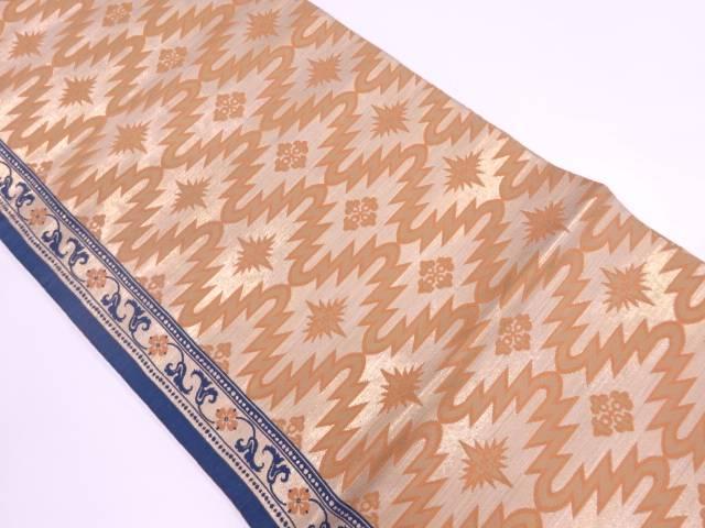 【IDnet】 川島織物製 花唐草に抽象模様織出し袋帯【リサイクル】【中古】【着】