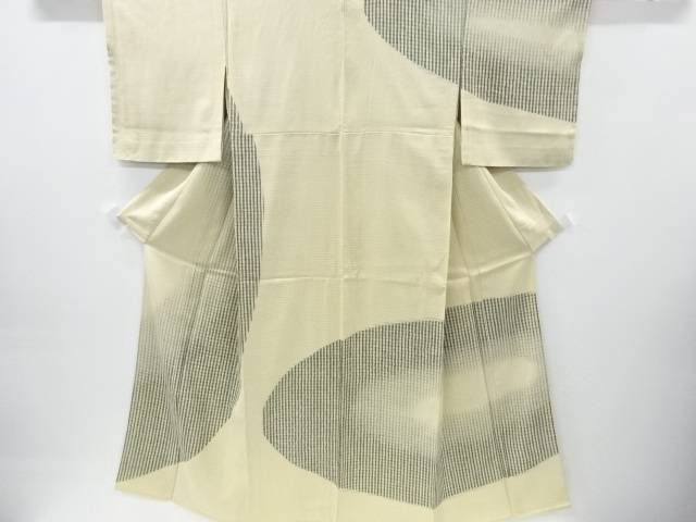 【IDnet】 紗袷抽象模様一つ紋訪問着【リサイクル】【中古】【着】