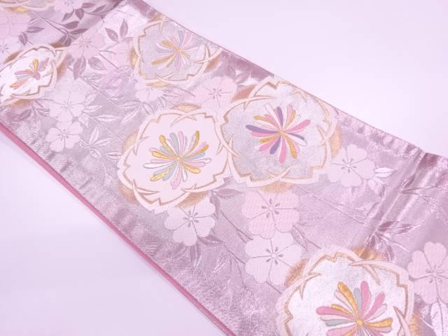 【IDnet】 枝垂桜模様織出し袋帯【リサイクル】【中古】【着】