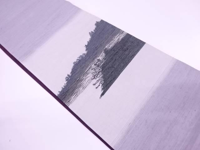 【IDnet】 手織り紬島模様織出し袋帯【リサイクル】【中古】【着】