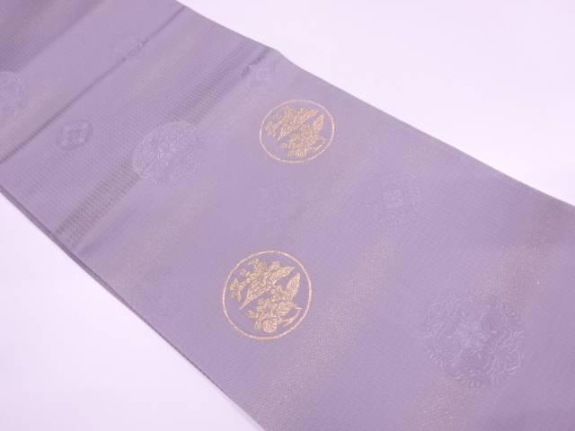 【IDnet】 未使用品 丸紋に草花模様織出し袋帯【リサイクル】【着】