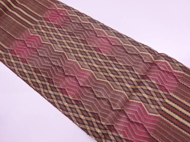 【IDnet】 ひなや謹製 組織抽象模様袋帯【リサイクル】【中古】【着】