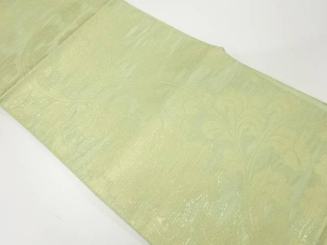 【IDnet】 織悦製  紗 花唐草模様織出し全通袋帯【リサイクル】【中古】【着】