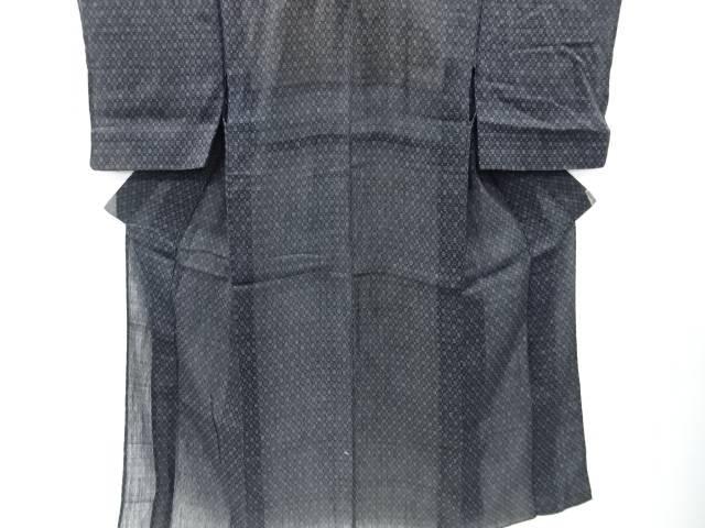 【IDnet】 本場能登上布幾何学模様織り出し着物【アンティーク】【中古】【着】