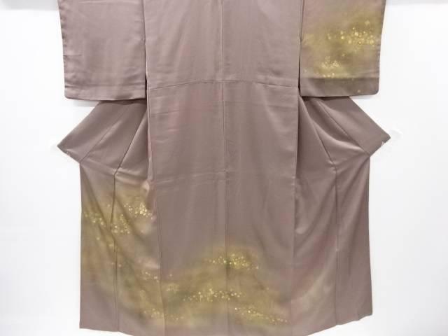【IDnet】 金彩箔散らしに菊・秋草模様一つ紋訪問着【リサイクル】【中古】【着】