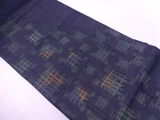 【IDnet】 紗紬抽象模様織出し名古屋帯【リサイクル】【中古】【着】