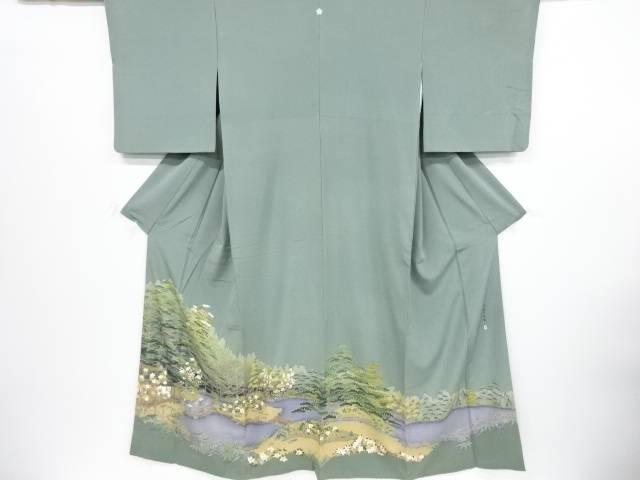 【IDnet】 作家物 手描き友禅「桂離宮庭園」一つ紋色留袖【リサイクル】【中古】【着】