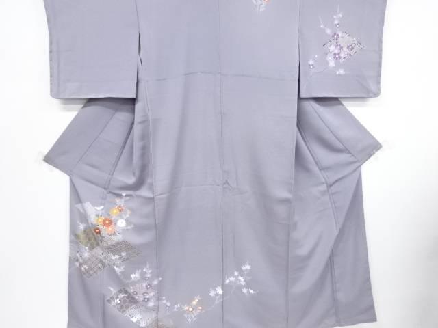 【IDnet】 未使用品 相良刺繍金彩友禅菱に梅・菊・楓模様訪問着【リサイクル】【着】