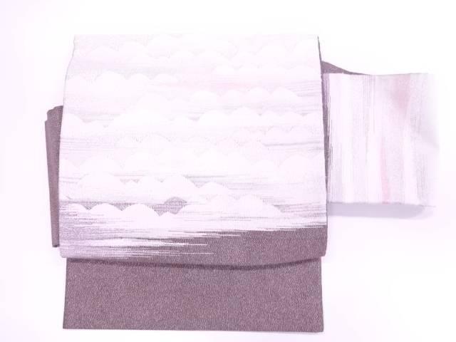 【IDnet】 抽象模様織出し作り帯【リサイクル】【中古】【着】