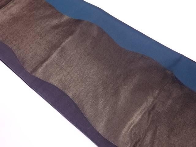 【IDnet】 よろけ縞模様織出し袋帯【リサイクル】【中古】【着】