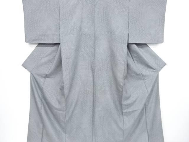 【IDnet】 麻の葉模様手織り節紬着物【リサイクル】【中古】【着】