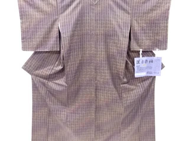 【IDnet】 未使用品 仕立て上がり 菅原漢方染 横段織り出し手織り真綿紬着物(ほてい屋)【着】