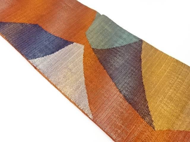 【IDnet】 未使用品 変わり織切りばめ模様織出袋帯【リサイクル】【着】