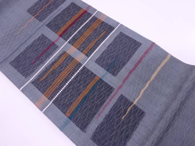 【IDnet】 未使用品 すくい織抽象模様織出し袋帯【リサイクル】【着】