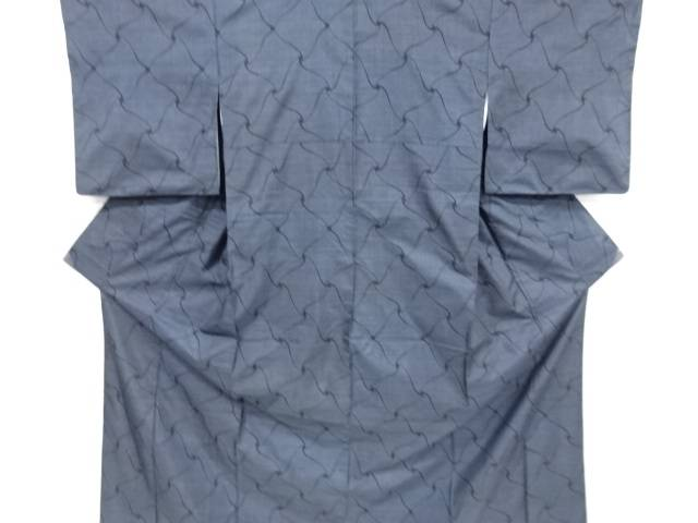 【IDnet】 瓦模様織り出し本場泥大島紬着物(9マルキ)【リサイクル】【中古】【着】