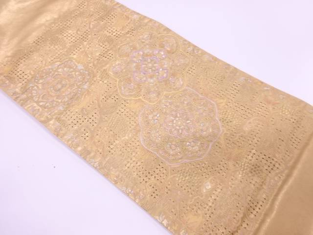 【IDnet】 華紋模様刺繍袋帯【リサイクル】【中古】【着】