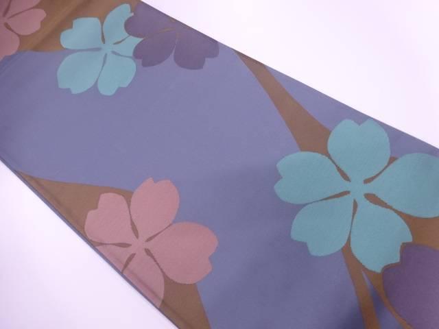 【IDnet】 辻村寿三郎 桜模様織出し袋帯【リサイクル】【中古】【着】