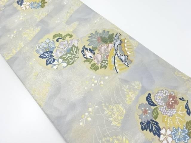【IDnet】 金糸雪輪に花車模様織り出し袋帯【リサイクル】【中古】【着】