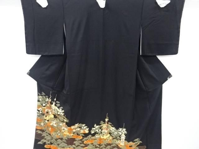 【IDnet】 未使用品 金彩町屋に山鉾模様刺繍留袖(比翼付き)【リサイクル】【着】