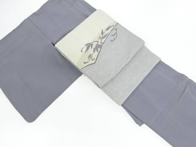 【IDnet】 一つ紋色無地着物・袋帯セット【リサイクル】【中古】【着】