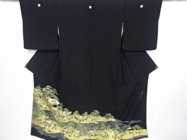【IDnet】 作家物 蘇州刺繍金彩時代風景模様留袖(比翼付き)【リサイクル】【中古】【着】