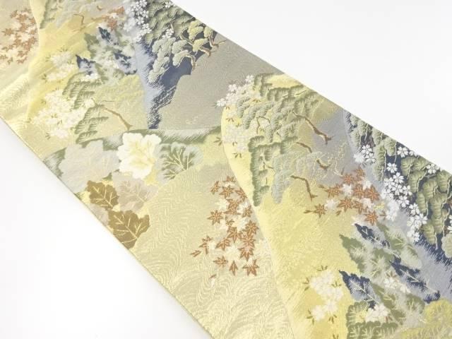 【IDnet】 本金松林に桜・楓模様織り出し袋帯【リサイクル】【中古】【着】