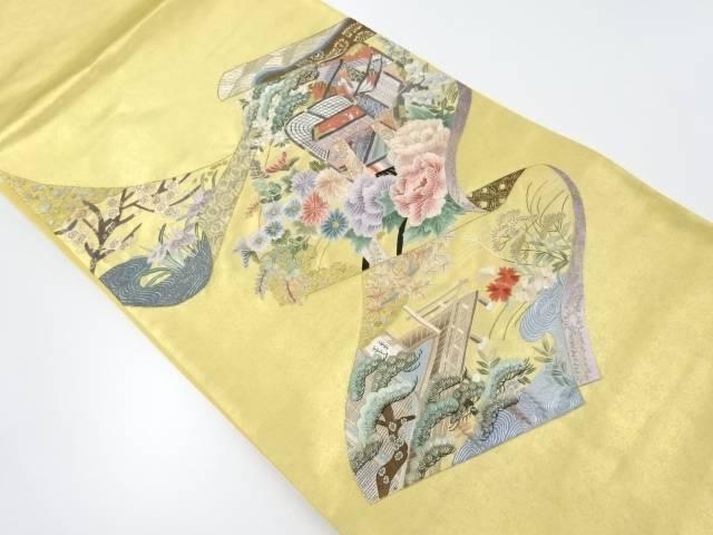 【IDnet】 蘇州刺繍御所車に花模様袋帯【リサイクル】【中古】【着】