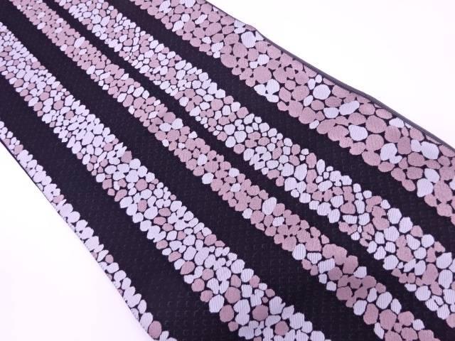 【IDnet】 風通綾織橋に石畳模様織出し袋帯【リサイクル】【中古】【着】