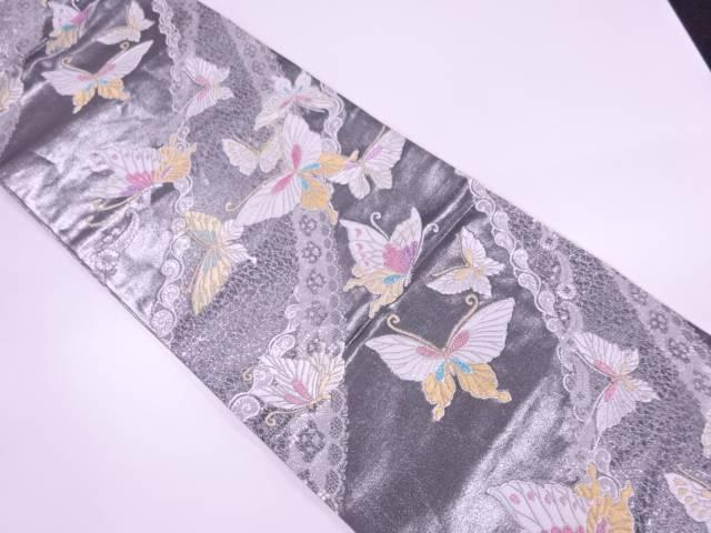 【IDnet】 蝶模様織出し振袖用袋帯【リサイクル】【中古】【着】