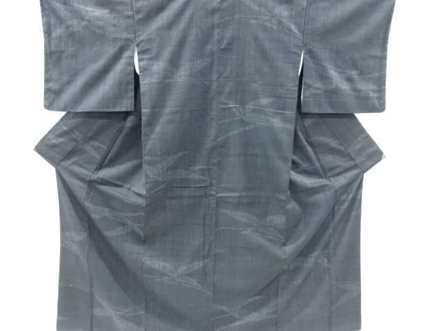 【IDnet】 笹模様織り出し手織り紬着物【リサイクル】【中古】【着】