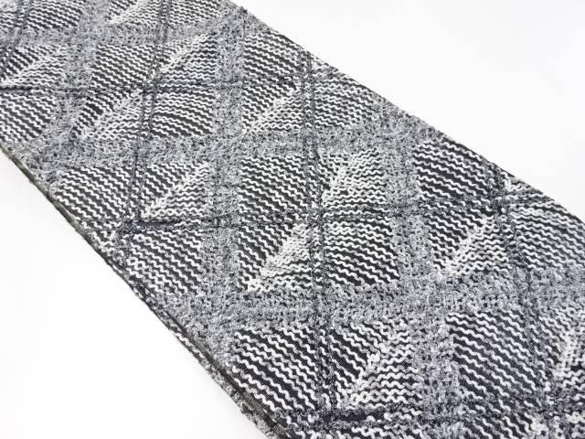 【IDnet】 無月製 斜め格子模様袋帯【リサイクル】【中古】【着】