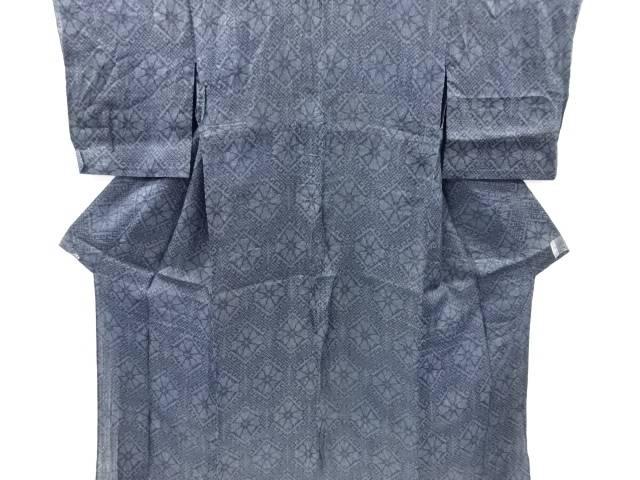 【IDnet】 本場宮古上布幾何学に花菱模様織り出し着物【リサイクル】【中古】【着】