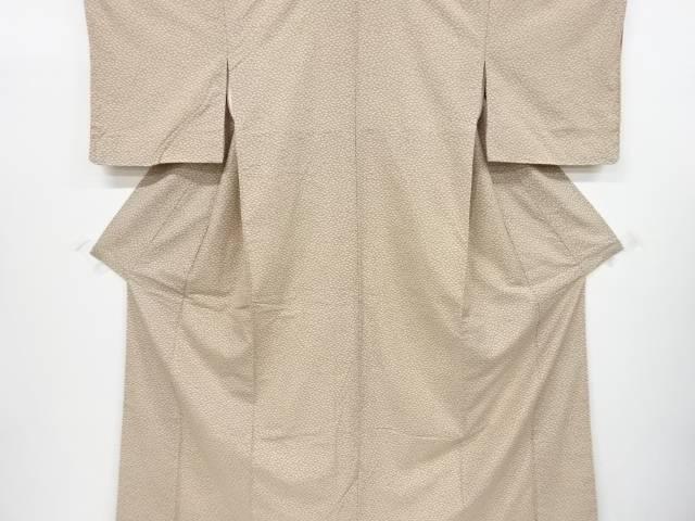 【IDnet】 未使用品 仕立て上がり 扇尽くし模様手織り紬着物【着】