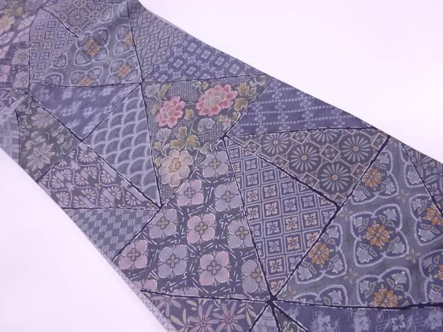 【IDnet】 草花に古典柄模様織出し袋帯【リサイクル】【中古】【着】