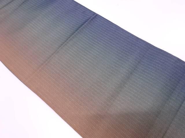 【IDnet】 縞模様織出し暈し全通袋帯【リサイクル】【中古】【着】