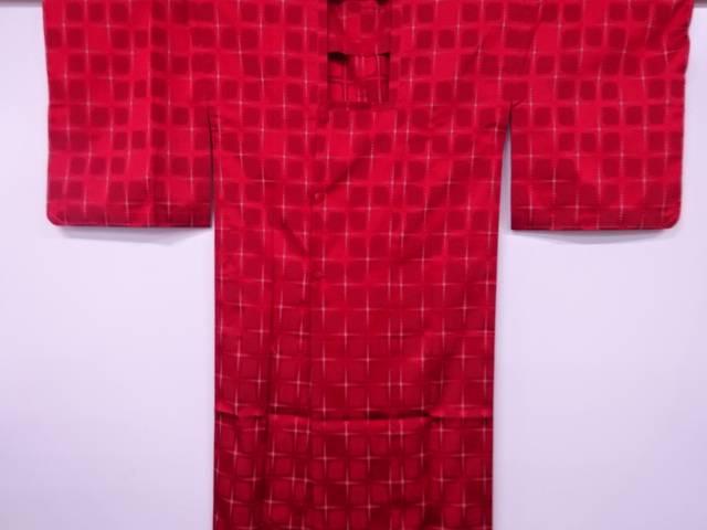【アイディーネットのリサイクル・アンティーク着物 茶道具】 【IDnet】 抽象模様織出し雨コート【リサイクル】【中古】【着】