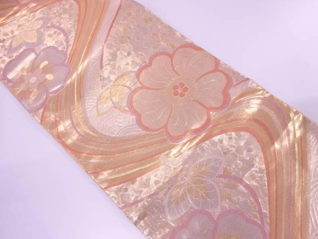 【IDnet】 未使用品 流水に桜・桐模様織出し袋帯【リサイクル】【着】