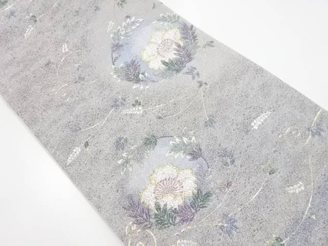 【IDnet】 金銀糸花丸文織り出し袋帯【リサイクル】【中古】【着】
