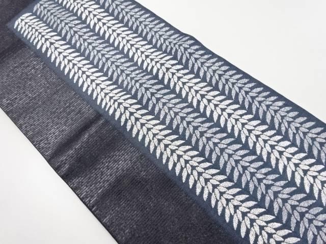 【IDnet】 漆箔笹模様織り出し袋帯【リサイクル】【中古】【着】