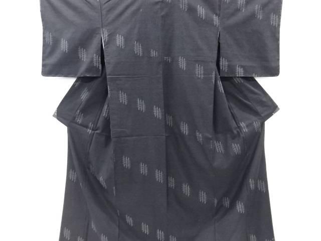 【IDnet】 未使用品 仕立て上がり 重要無形文化財本場結城紬100亀甲変わり縞織り出し着物(高島屋)【着】